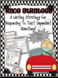 """RACE Writing Response Strategy Giveaway!! ! Enter for your chance to win 1 of 5.  RACE Writing Response Strategy for Common Core Text Dependent Questions (10 pages) from A Touch of Class Teaching on TeachersNotebook.com (Ends on on 10-25-2014)  If you are having trouble with students answering questions with things like,  """"Cause she felt excited about the trip"""" or """"Because page 45 says photosynthesis does that"""" then this resource will be beneficial in your classroom. This ..."""