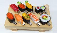 pen, fish, gadget, usb flash drive, geek crafts, memories, last minute gifts, design, sushi usb