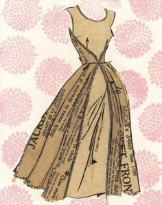 "dress pattern collage print ""Pearl Anna"""