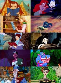 However you feel about Disney princesses, at least many of them read.