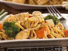 Thai Chicken Pasta - Make your favorite takeout dinner recipe right at home!