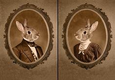 Mr.  Mrs Bunny portraits