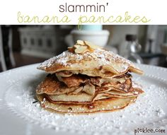 The best banana pancakes-healthy too!