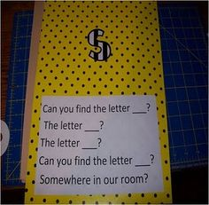 Can you find the letter...?