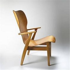 Ilmari Tapiovaara; Birch and Birch Bent Plywood Chair, c1952.