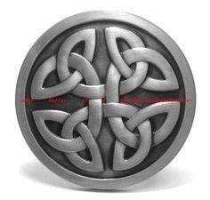 BBG1749 IRISH CELTIC KNOT ROUND SHIELD TRIBAL TATTOO ART BELT BUCKLE