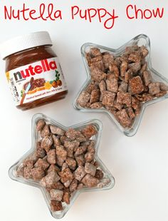 Nutella Puppy Chow, not sure this will last until my kids get home to try it!!!!