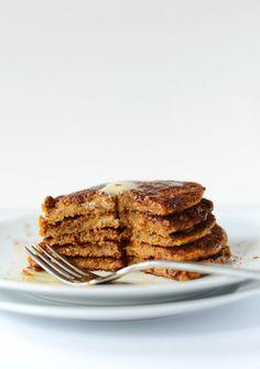 vegan pumpkin spice pancakes #fall