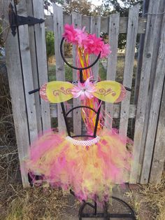 Children's Pink and Yellow Fairy Butterfly by AalbersCreations, $34.00