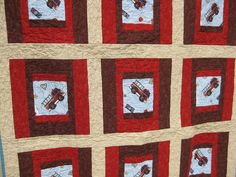 """Fire Truck"" baby quilt, via Flickr."