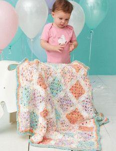 Give the best gift ever with the Birthday Cake Crochet Baby Blanket! | AllFreeCrochetAfghanPatterns.com