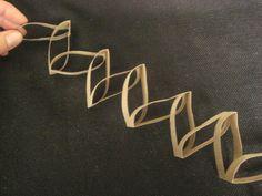 Decoració feta amb rotllo de paper de vàter! Clever, clever...