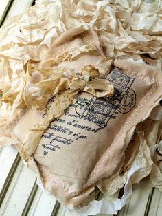 Stamped Lavender Sachet
