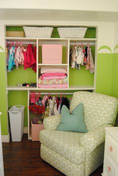 Closet. Need to do this for the kid's rooms!