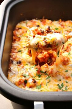 "Southwestern Crock-Pot Chicken and Rice recipe ??? cheesy chicken, vegetable and rice dish made in a slow cooker for an easy weeknight dinner. Peppers, corn, beans and a good mix of spices add a Southwestern flair to a classic. <a class=""pintag searchlink"" data-query=""%23sponsored"" data-type=""hashtag"" href=""/search/?q=%23sponsored&rs=hashtag"" rel=""nofollow"" title=""#sponsored search Pinterest"">#sponsored</a> <a class=""pintag searchlink"" data-query=""%23ad"" data-type=""hashtag"" href=""/search/?q=%23ad&rs=hashtag"" rel=""nofollow"" title=""#ad search Pinterest"">#ad</a>"
