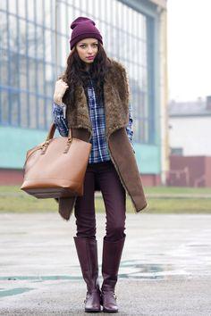 Faux fur jacket from La Redoute by Modna Komoda