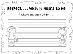 Respect writing
