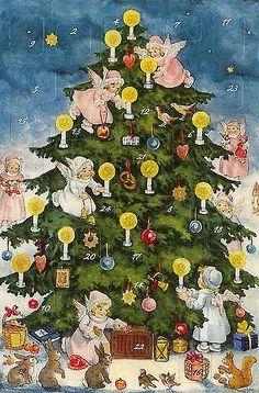 .vintage Advent calendar