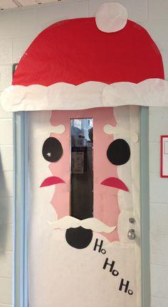 Santa Classroom Door:)