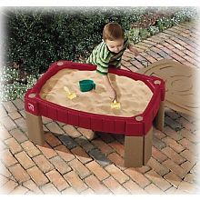 Like this idea better than a sand box- can move around yard and keep it away from neighborhood cats :)