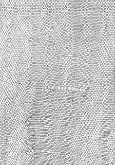 "Saatchi Online Artist: Marlene Huissoud; Pen and Ink, 2013, Drawing ""Honeycomb"""