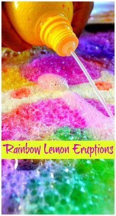 Rainbow Lemon Eruptions Salt Crystal Tray..