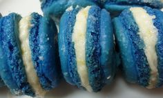 Blue Macarons Wedding Desserts