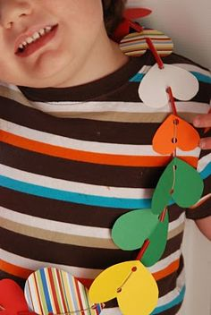 Homemade Valentine Lei! Great festive activity to do with your children! From Homemade Serenity