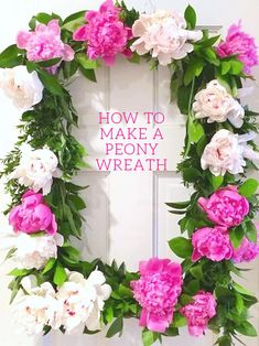 Design Darling: HOW TO MAKE A PEONY WREATH