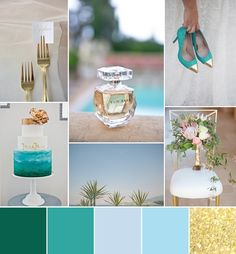 Golden Turquoise Ocean Wedding Inspiration