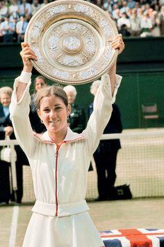Chris Evert, Wimbledon 1974.  #tennis