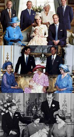 three generations of royal christenings