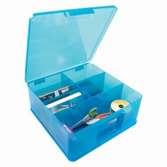 Storage Studios - Photo and Supply Case - Blue at Scrapbook.com