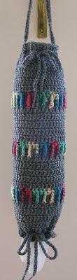 Asparagus & Mayonnaise: Bag o' bags crochet kitchen, groceri bag, grocery bags, asparagus, crochet bag, bag holder, mayonnaise, crochet pattern, plastic bag
