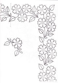 flower border, embroideri pattern, galleri, bordado, dibujo, risco