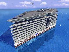 airport, float citi, news, cruises, sea, cruise ships, boat, freedom ship, freedomship