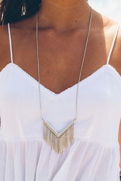 Take Flight, Silver Fringe Necklace