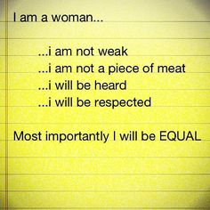 I will be EQUAL.