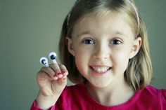 Kids craft with googly eyes