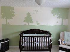 sweet nurseri wall, boy bedrooms, nursery walls, wall murals, babies nursery, babi room, babi nurseri, kid room, babies rooms