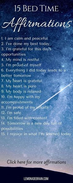 Affirmations: At the
