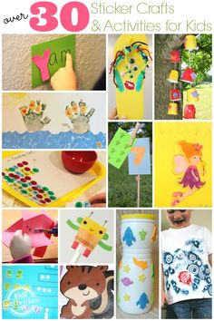 30+ Sticker Crafts and Activities summer kids, activities for kids, sticker crafts for kids