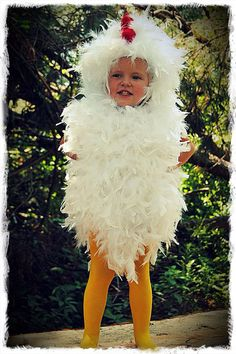 Toddler chicken costume :)