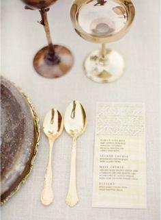 pretty gold flatware