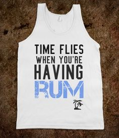 Time flies when you're having rum... beach cover up!