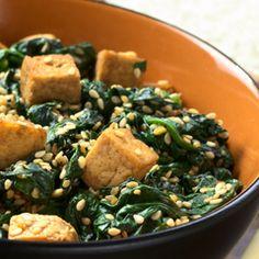Spinach and Abura Age Fried Tofu Hitashi