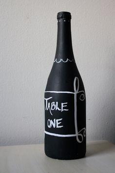 Chalkboard paint bottle
