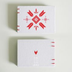 homesick by uituka, red and white #bookbinding