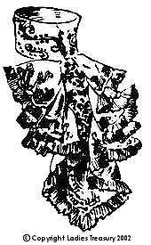 Free Pattern:  Lady's Fancy Jabot, 1907