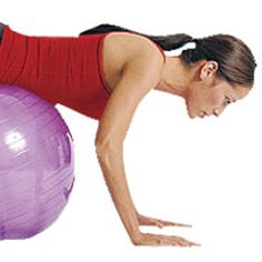 ABS WORKOUT WITH AN EXERCISE BALL  Get Flatter Abs -- Advanced Level  Get abs with this exercise ball workout plan